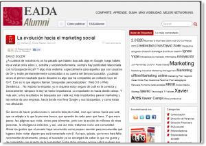 La evolución hacia el marketing social en EADAAlumni
