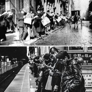 dispositivos de antes y de ahora