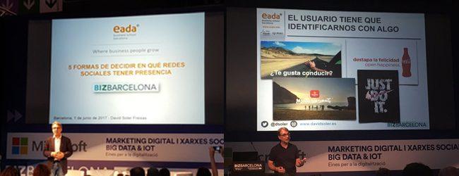 PDF's Redes Sociales y Estrategia de Contenidos en el BizBarcelona